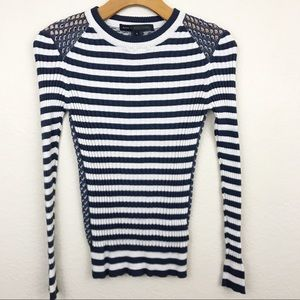 Marc by Marc Jacobs | silk knit striped sweater
